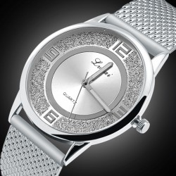 Montre strass Silver Mesh...